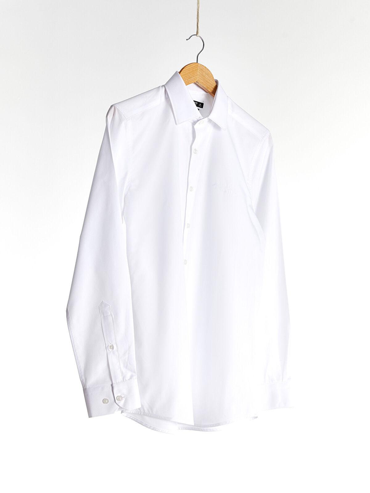 K.Atatürk İmza Nakışlı Slim Fit Gömlek - LC WAIKIKI