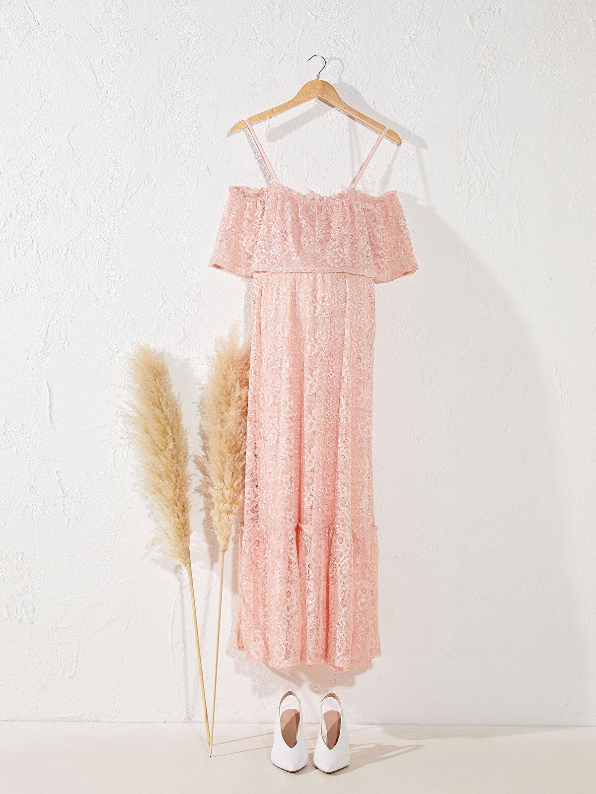Dantel Detaylı Askılı Hamile Elbise - LC WAIKIKI