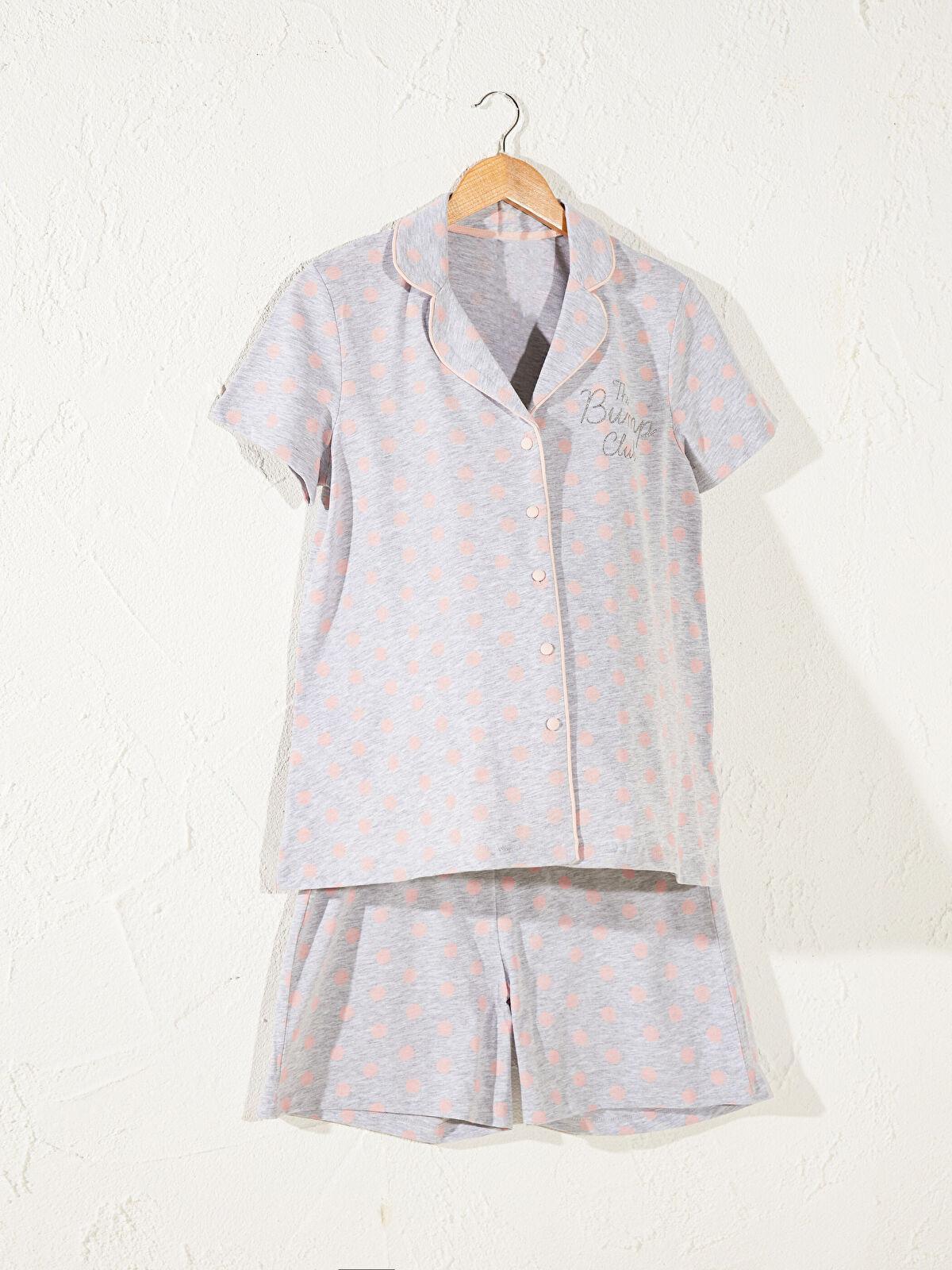 Düğme Detaylı Hamile Pijama Takımı - LC WAIKIKI