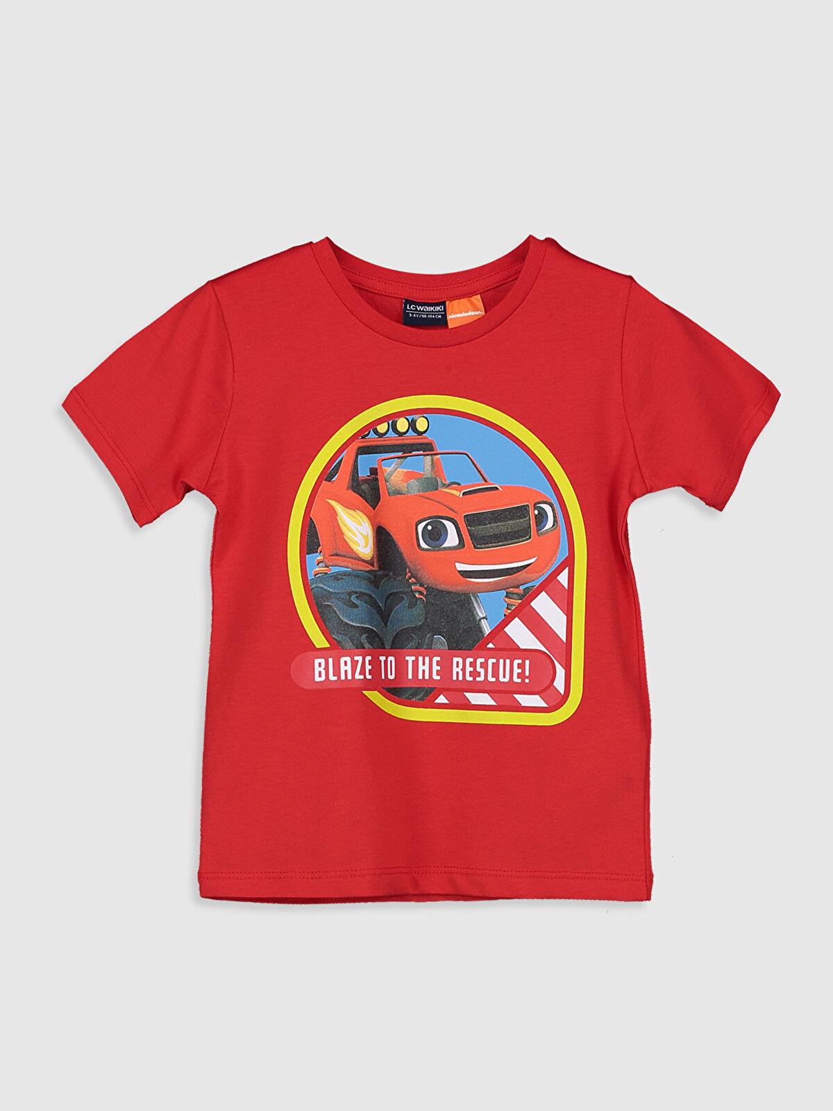 Erkek Çocuk Arabalar Pamuklu Tişört - LC WAIKIKI
