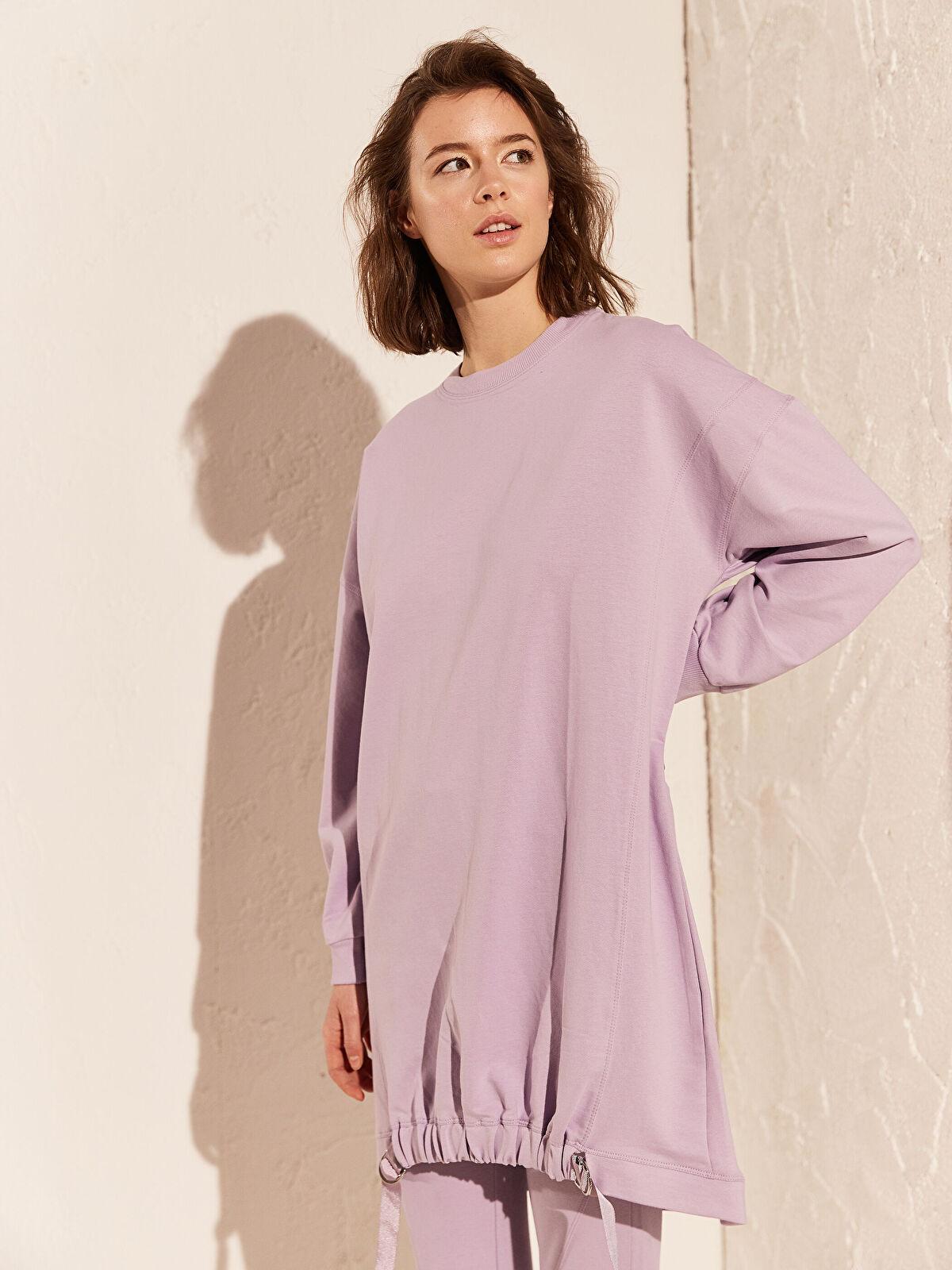 Beli Büzgülü Oversize Sweatshirt - LC WAIKIKI