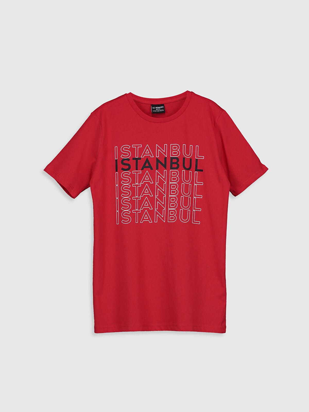 Erkek Çocuk İstanbul Baskılı Pamuklu Tişört - LC WAIKIKI