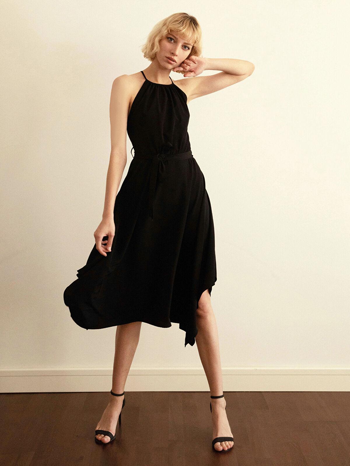 Halter Yaka Sırt Detaylı Elbise - LC WAIKIKI