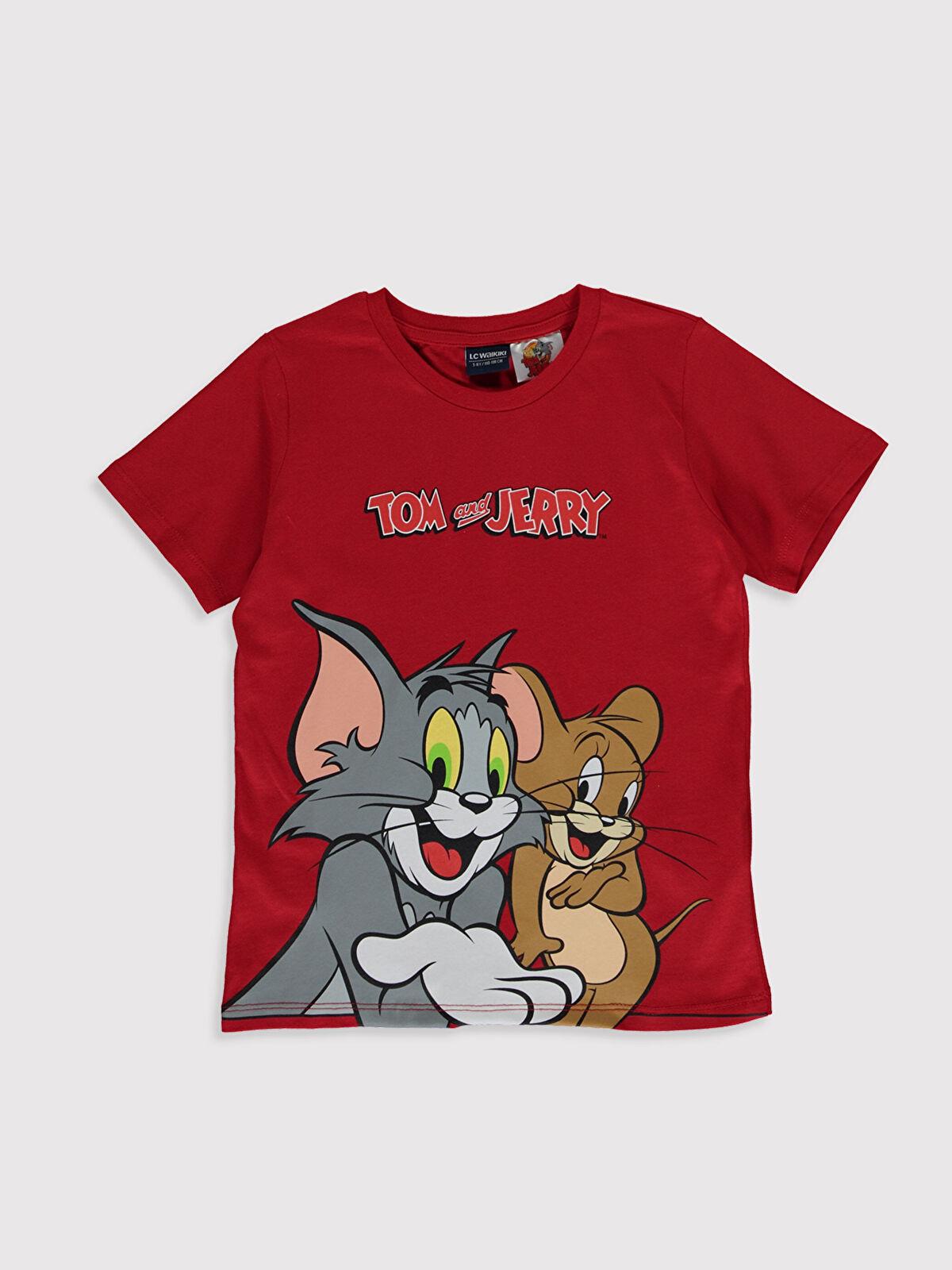 Erkek Çocuk Tom ve Jerry Pamuklu Tişört - LC WAIKIKI