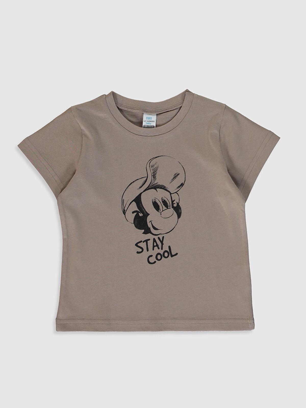 Erkek Bebek Nostaljik Maymun Baskılı Tişört - LC WAIKIKI