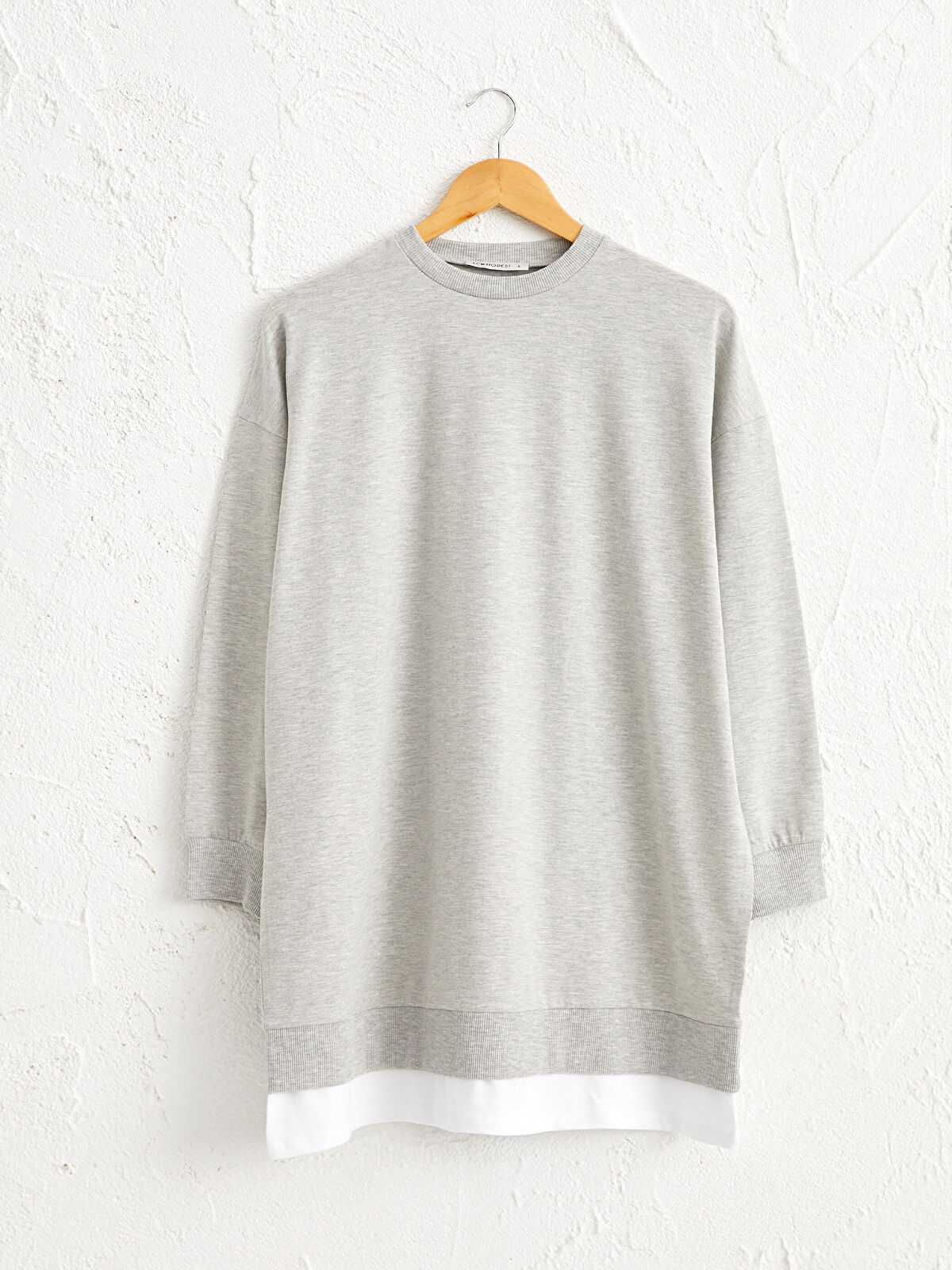 Baskı Detaylı Pamuklu Sweatshirt - LC WAIKIKI