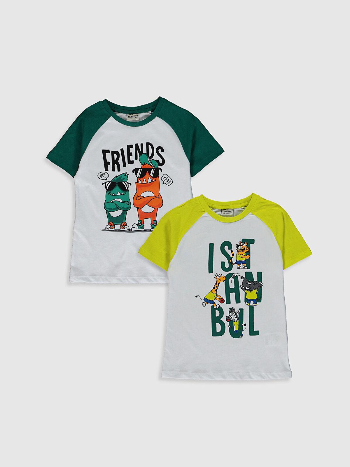 Erkek Çocuk Pamuklu Tişört 2'li - LC WAIKIKI