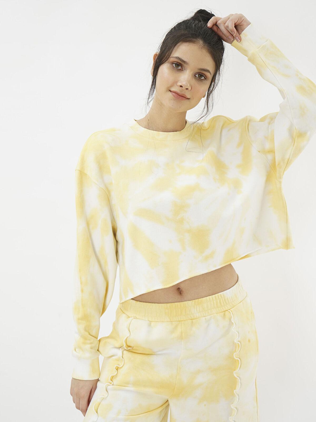 Eoselio Batik Boyama Crop Sweatshirt - Markalar