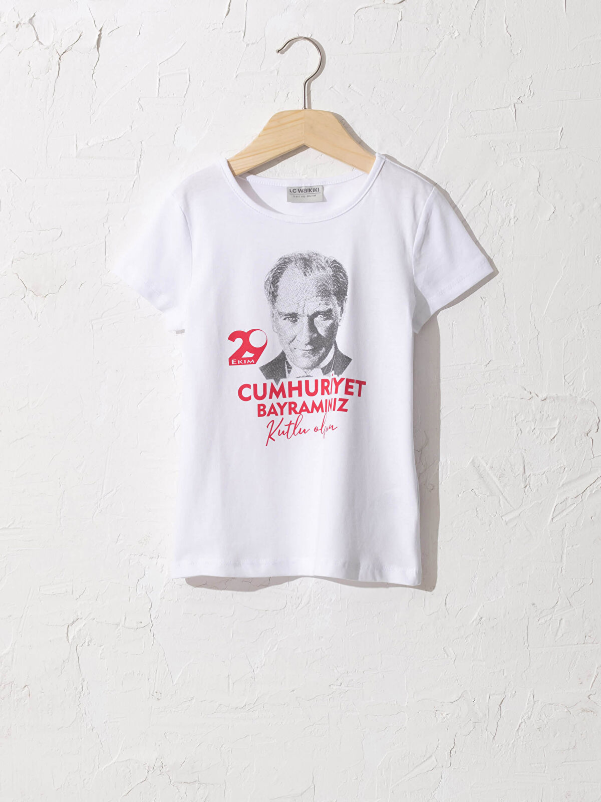 Kız Çocuk Atatürk Baskılı Pamuklu Tişört - LC WAIKIKI