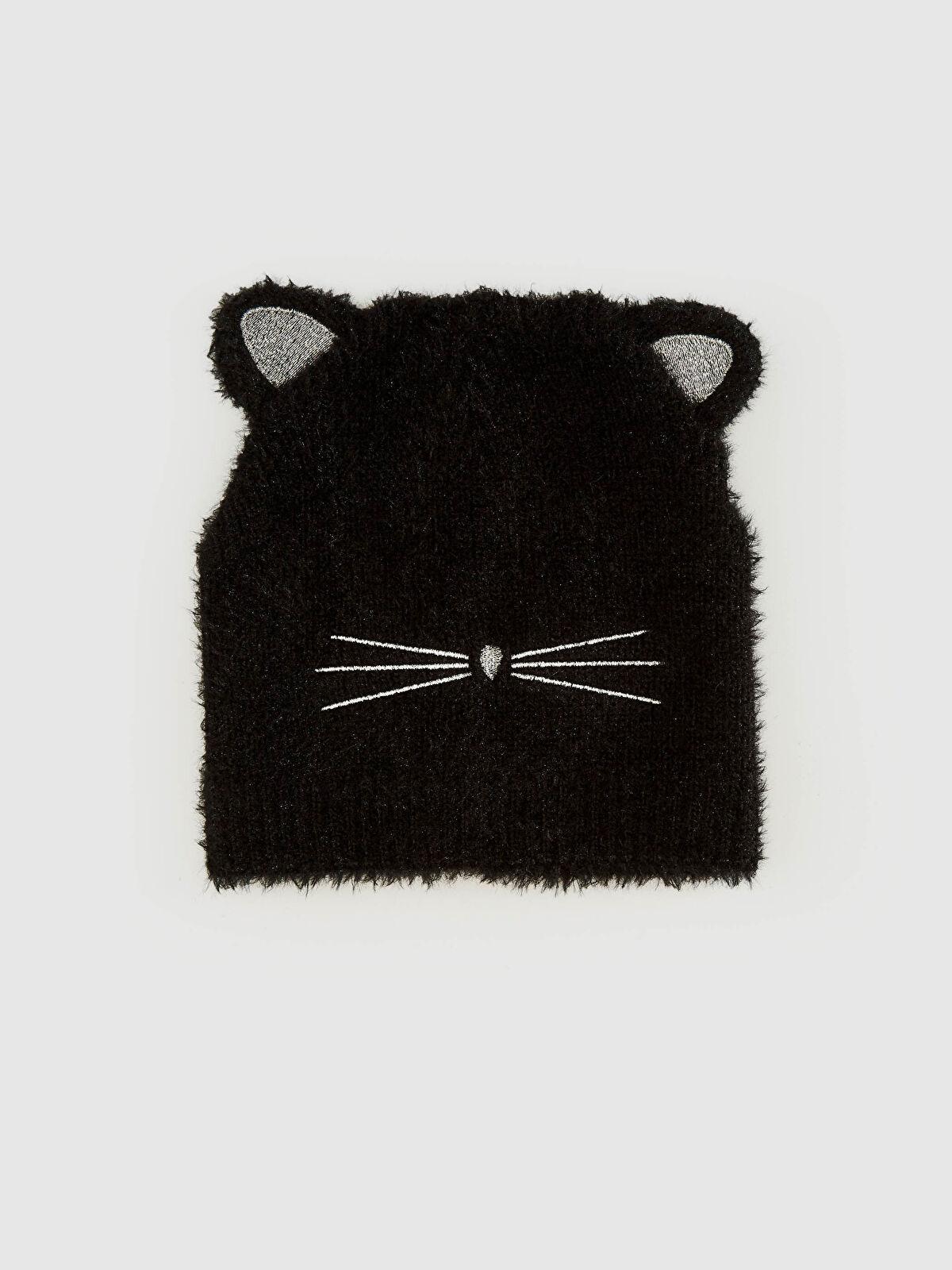 Kız Çocuk Kedi Görünümlü Triko Bere - LC WAIKIKI