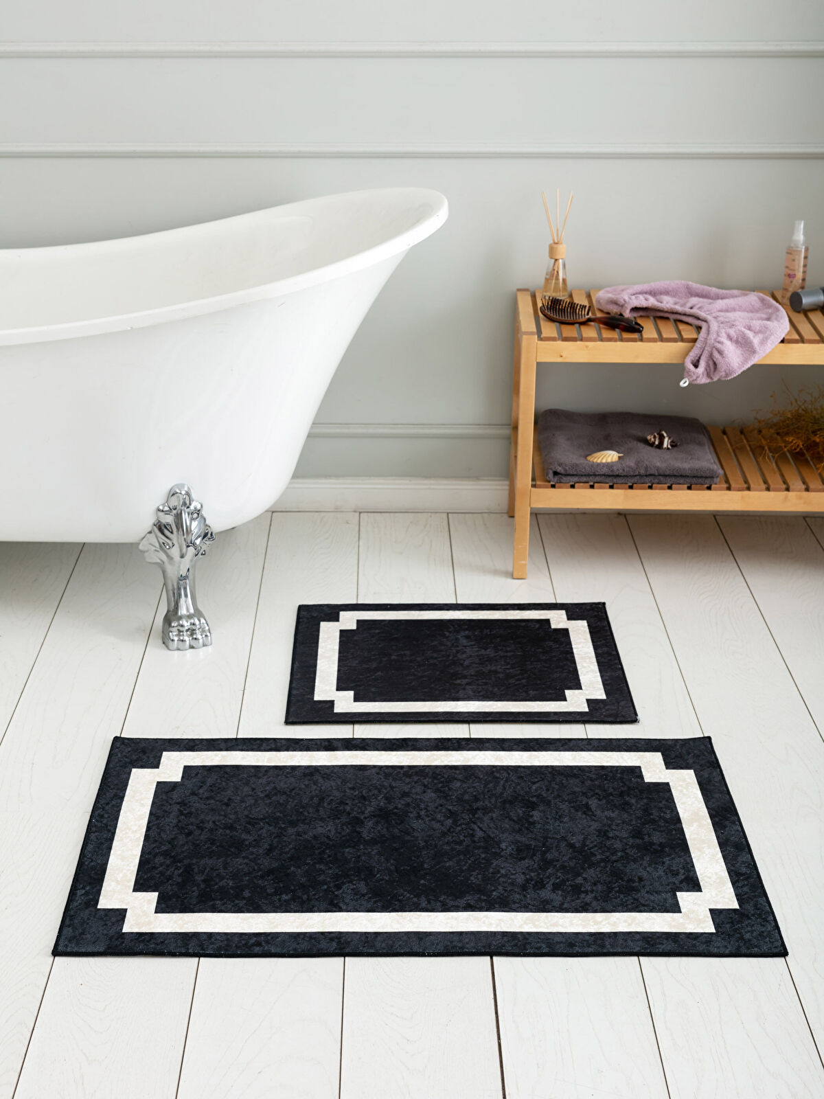 Desenli Banyo Paspası 2'li - LCW HOME