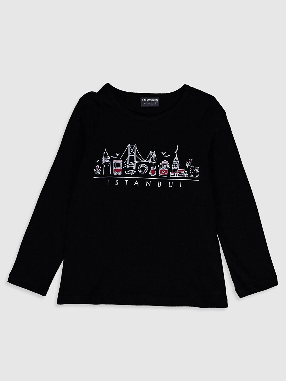 Kız Çocuk İstanbul Temalı Tişört - LC WAIKIKI