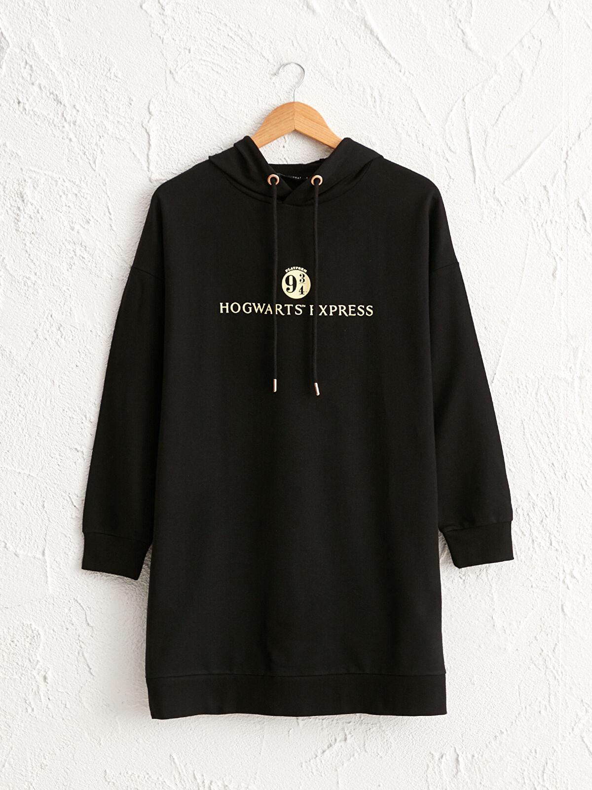 Hogwarts Baskılı Oversize Sweatshirt - LC WAIKIKI