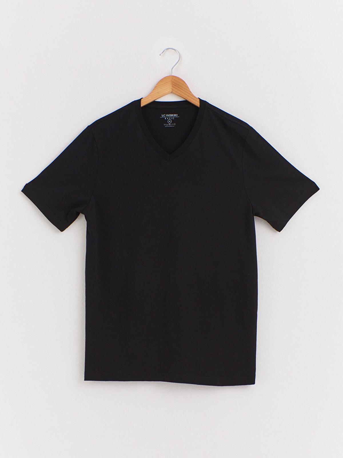 V Yaka Kısa Kollu Basic Tişört - LC WAIKIKI