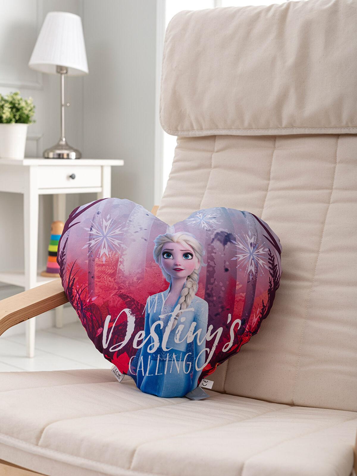 Elsa Lisanslı Kalp Kırlent - LCW HOME