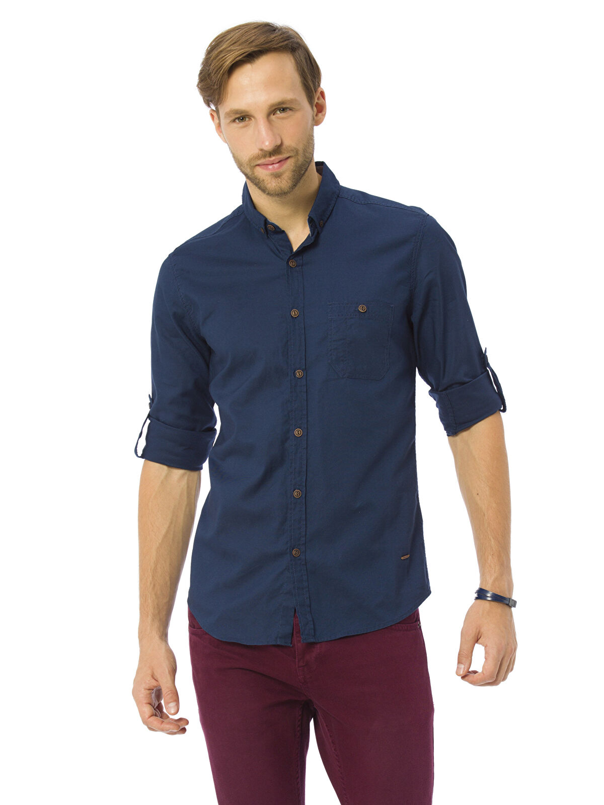 Ekstra Slim Fit Uzun Kollu Oxford Gömlek - LC WAIKIKI