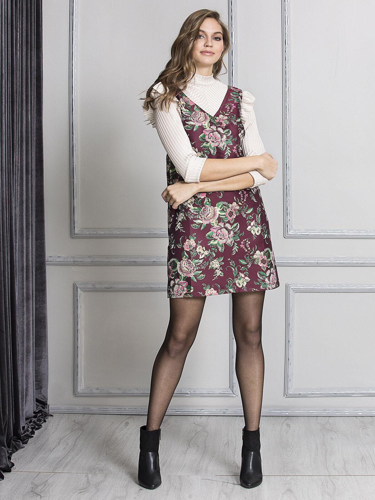 Çiçek Desenli Mini Elbise - LC WAIKIKI