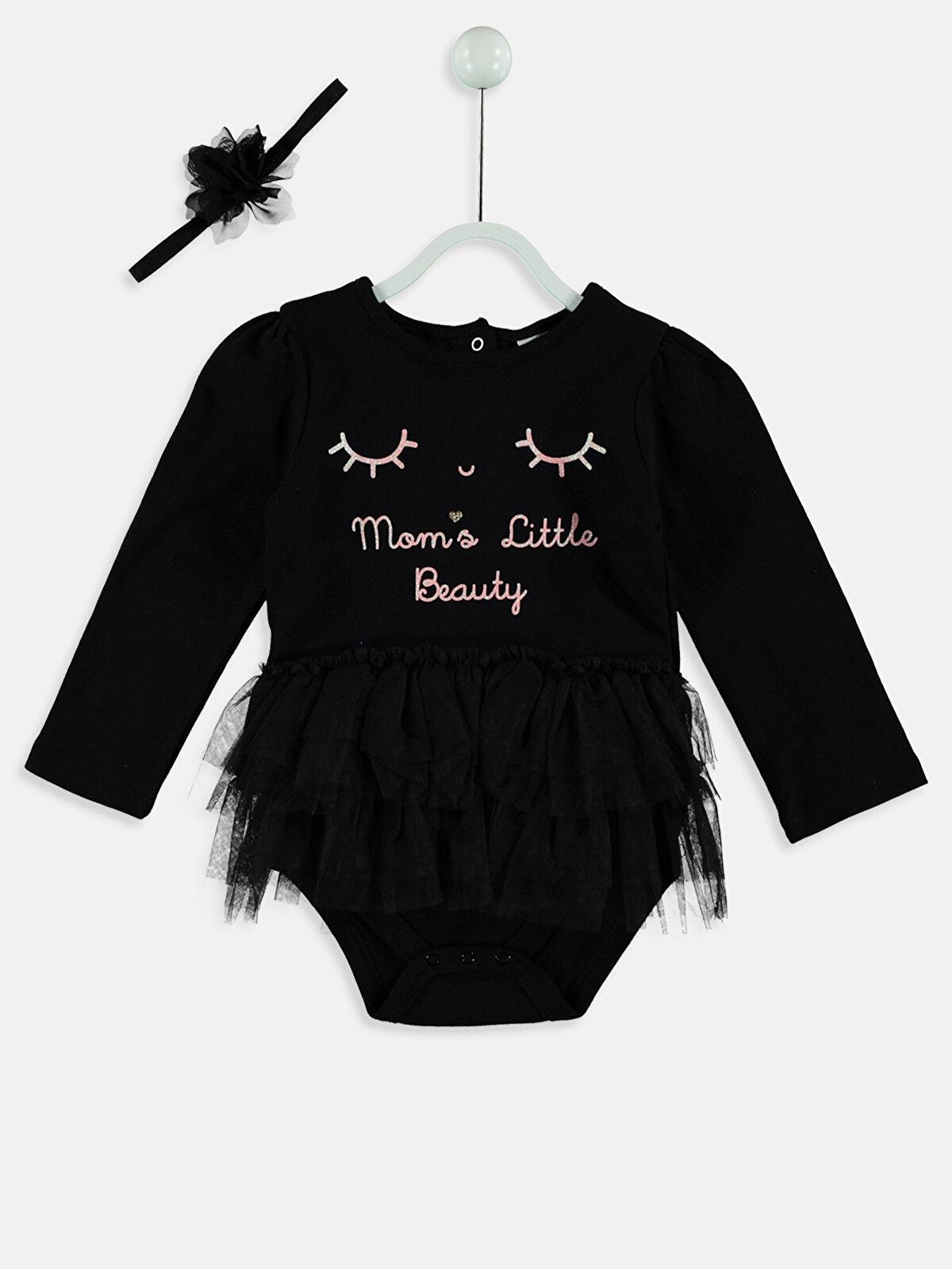 Kız Bebek Çıtçıtlı Body ve Saç Bandı - LC WAIKIKI
