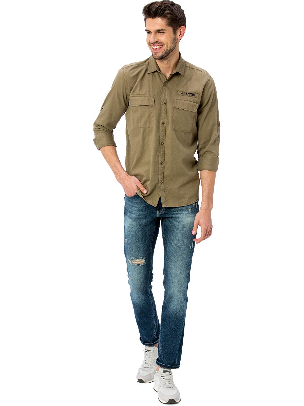 Yırtık Görünümlü 750 Slim Fit Jean Pantolon - LC WAIKIKI