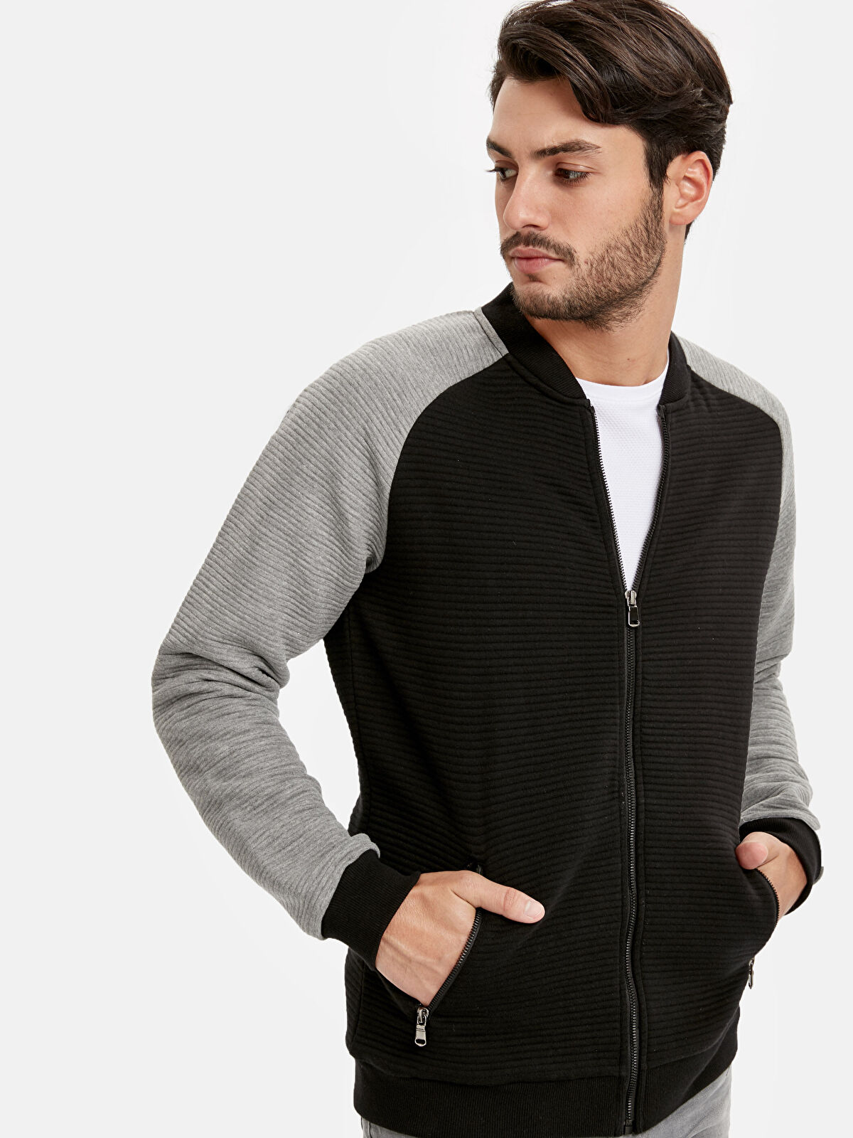 Bomber Fermuarlı Sweatshirt - LC WAIKIKI