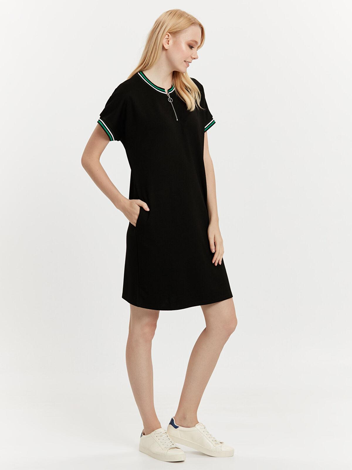 Yaka Detaylı Mini Elbise - LC WAIKIKI