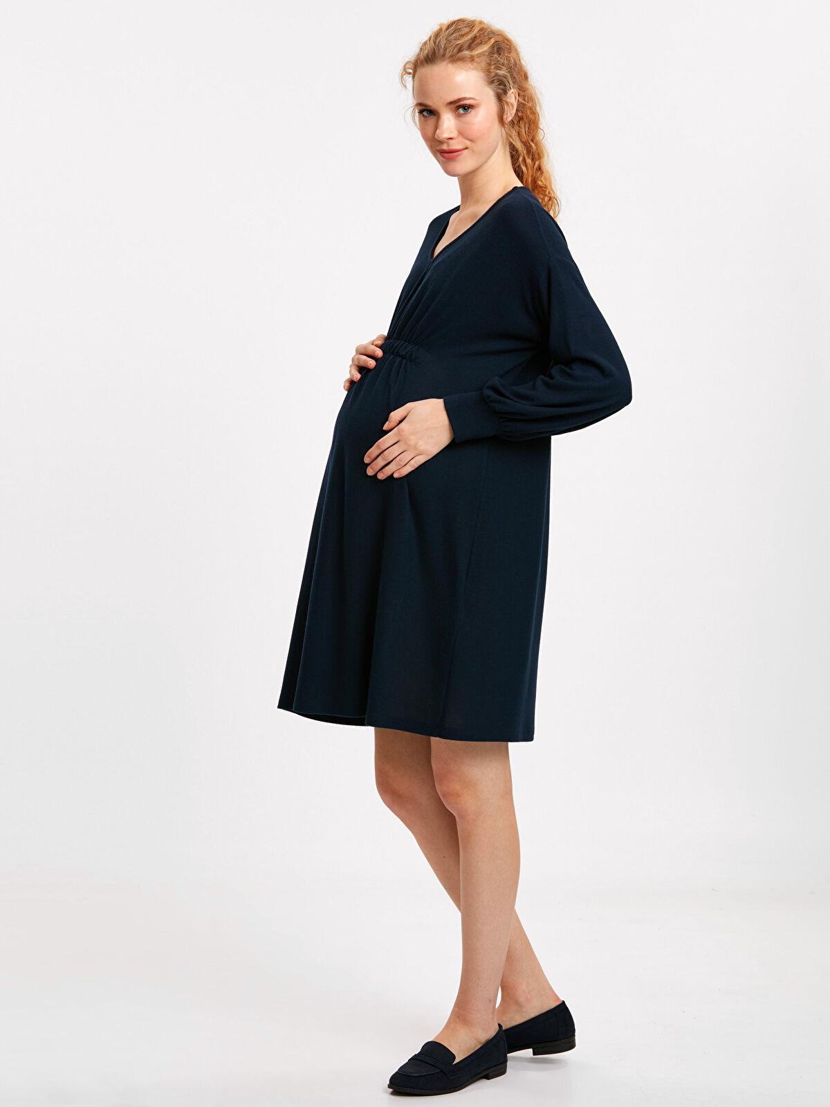 Bel Detaylı Hamile Elbisesi - LC WAIKIKI