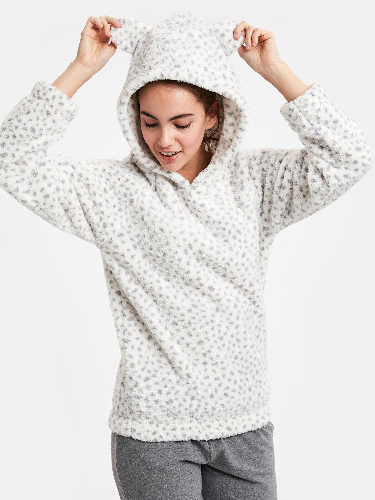 Kapüşonlu Pelüş Pijama Üst - LC WAIKIKI