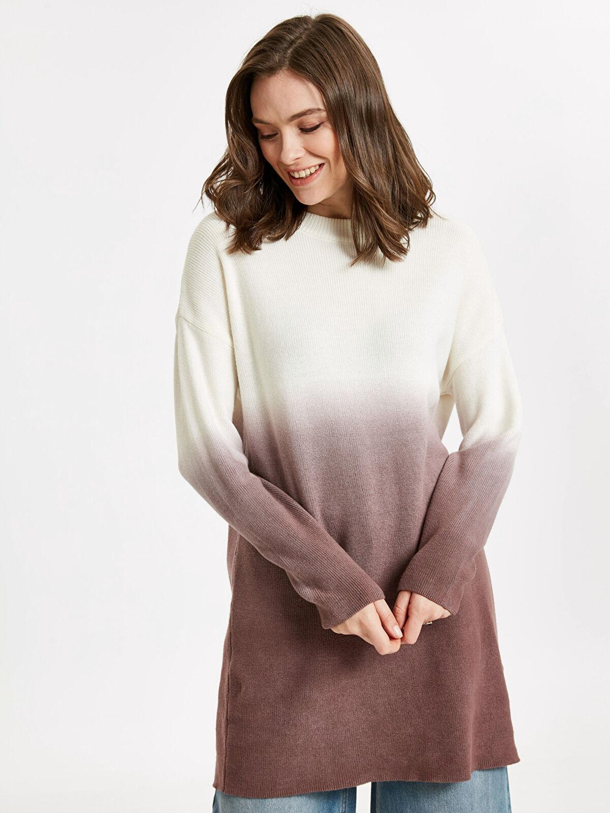 Batik Görünümlü İnce Triko Tunik - LC WAIKIKI