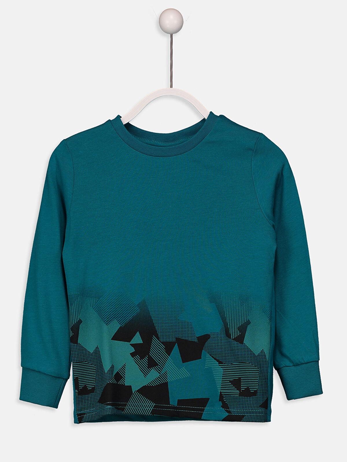 Baskılı Pamuklu Sweatshirt - LC WAIKIKI