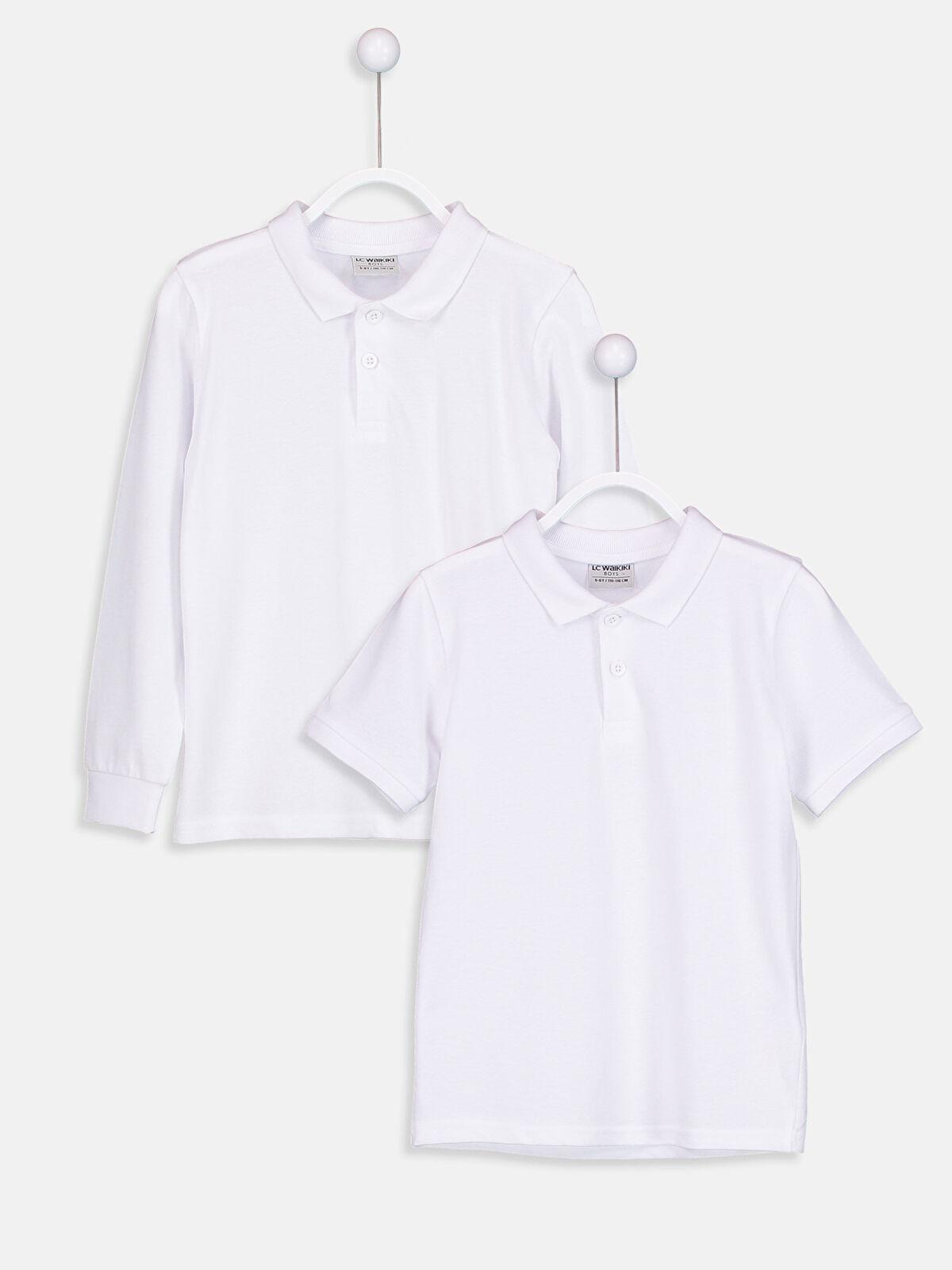 Polo Yaka Pamuklu Tişört 2'li - LC WAIKIKI
