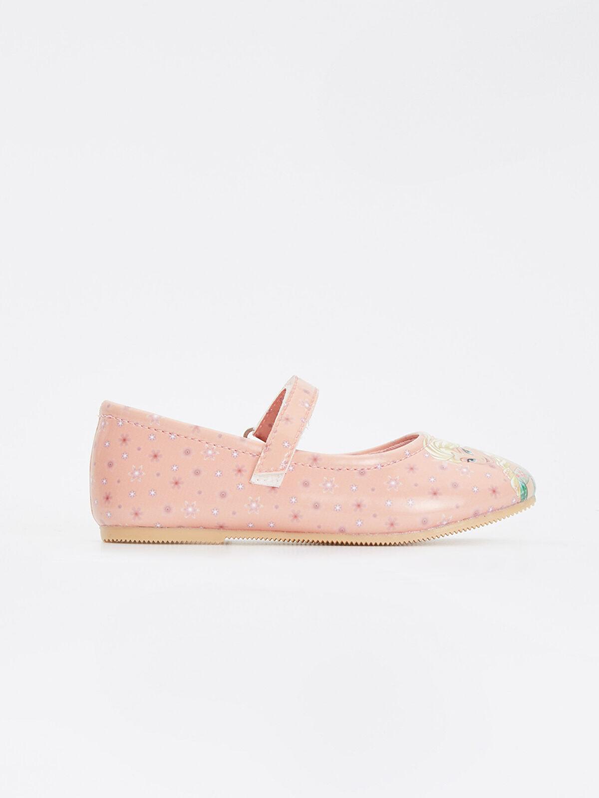 Kız Çocuk Frozen Cırtcırtlı Babet Ayakkabı - LC WAIKIKI