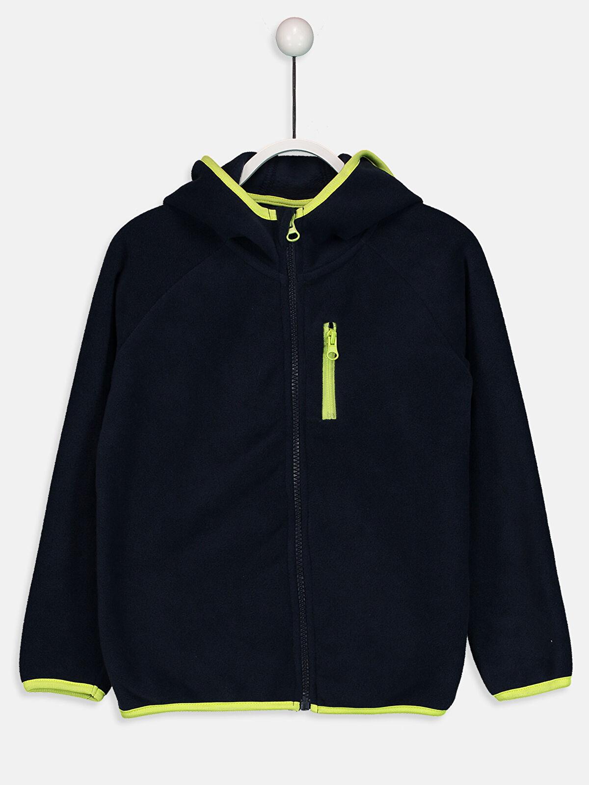 Fermuarlı Kapüşonlu Polar Sweatshirt - LC WAIKIKI