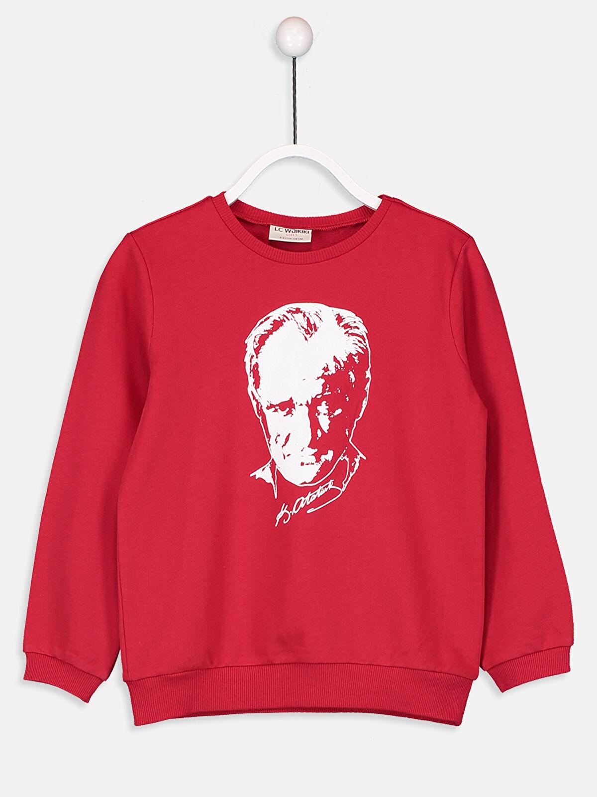 Kız Çocuk Atatürk Baskılı Sweatshirt - LC WAIKIKI