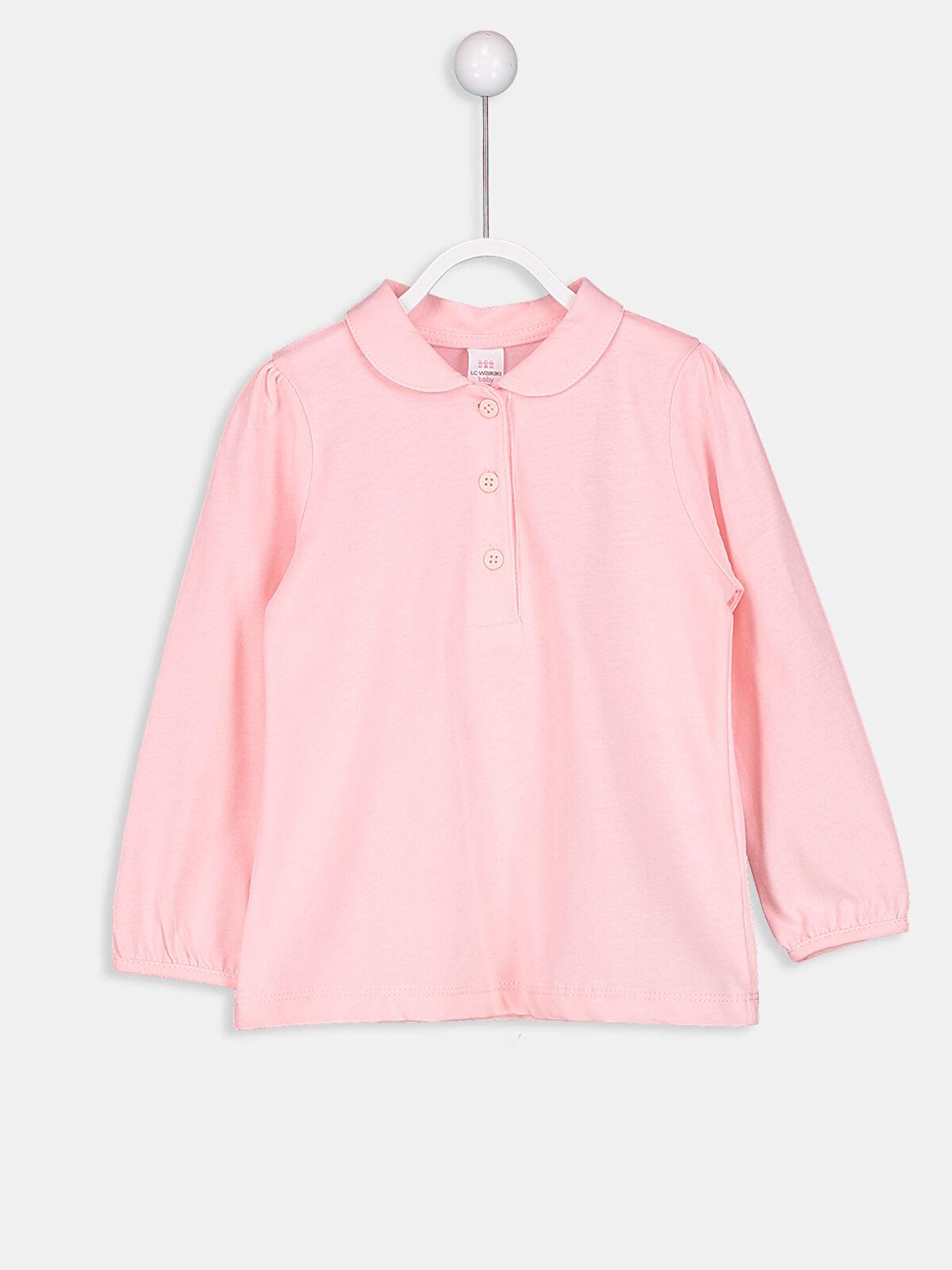 Kız Bebek Polo Yaka Tişört - LC WAIKIKI