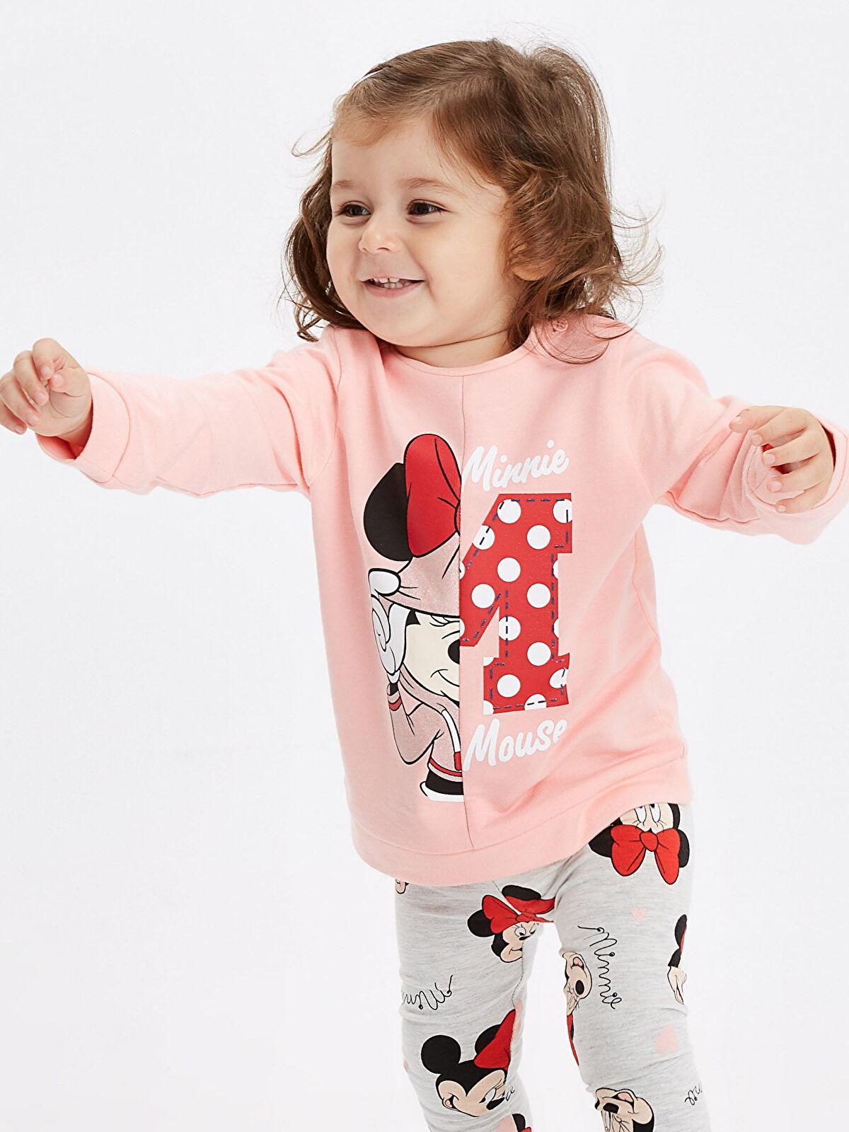 Minnie Mouse Baskılı Sweatshirt - LC WAIKIKI