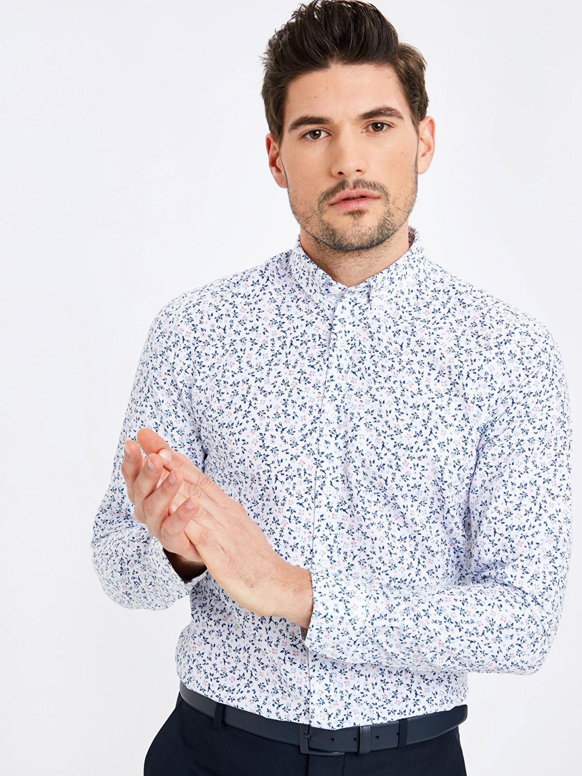 Extra Slim Fit Uzun Kollu Oxford Gömlek - LC WAIKIKI
