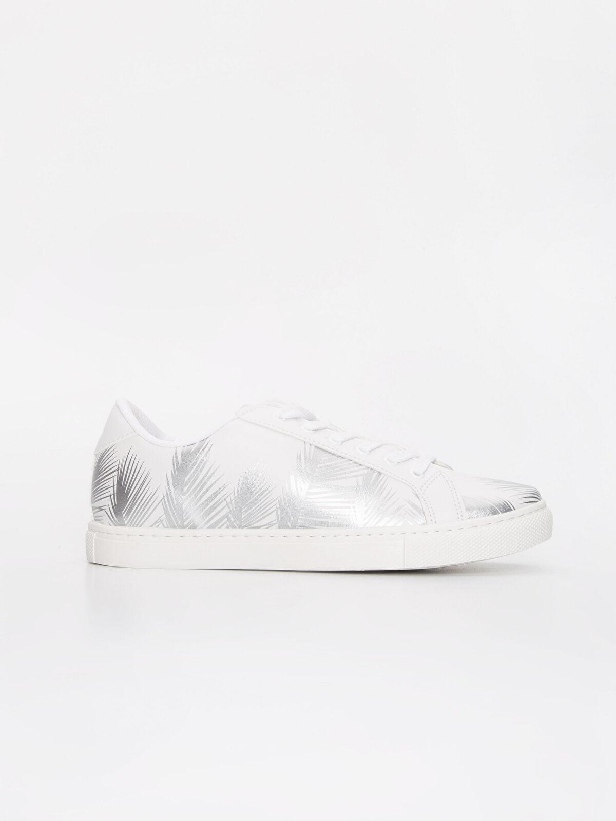 Kadın Yaprak Desenli Bağcıklı Ayakkabı - LC WAIKIKI