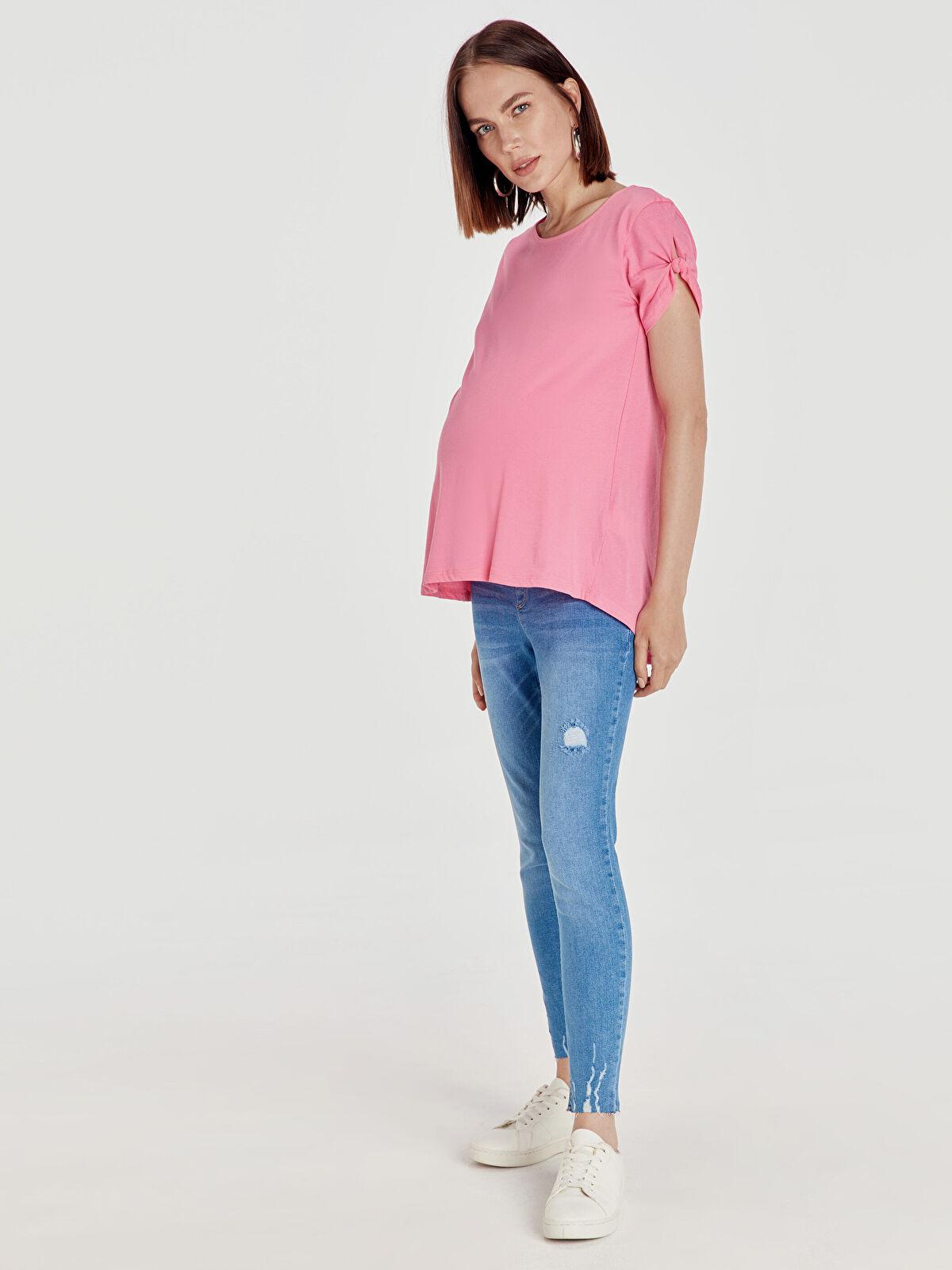 Sökük Detaylı Skinny Hamile Jean Pantolon - LC WAIKIKI