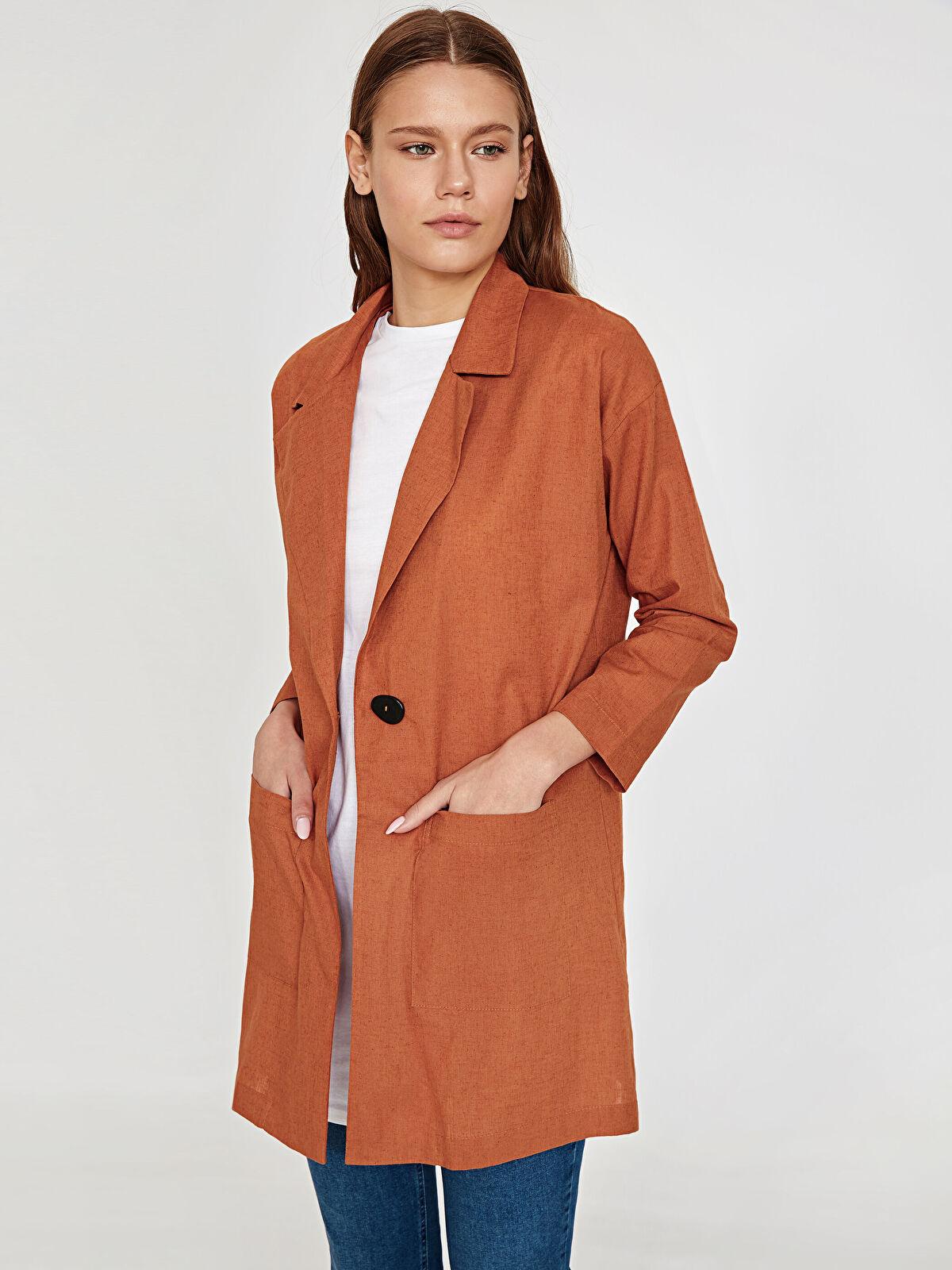 Düğme Detaylı İnce Ceket - LC WAIKIKI