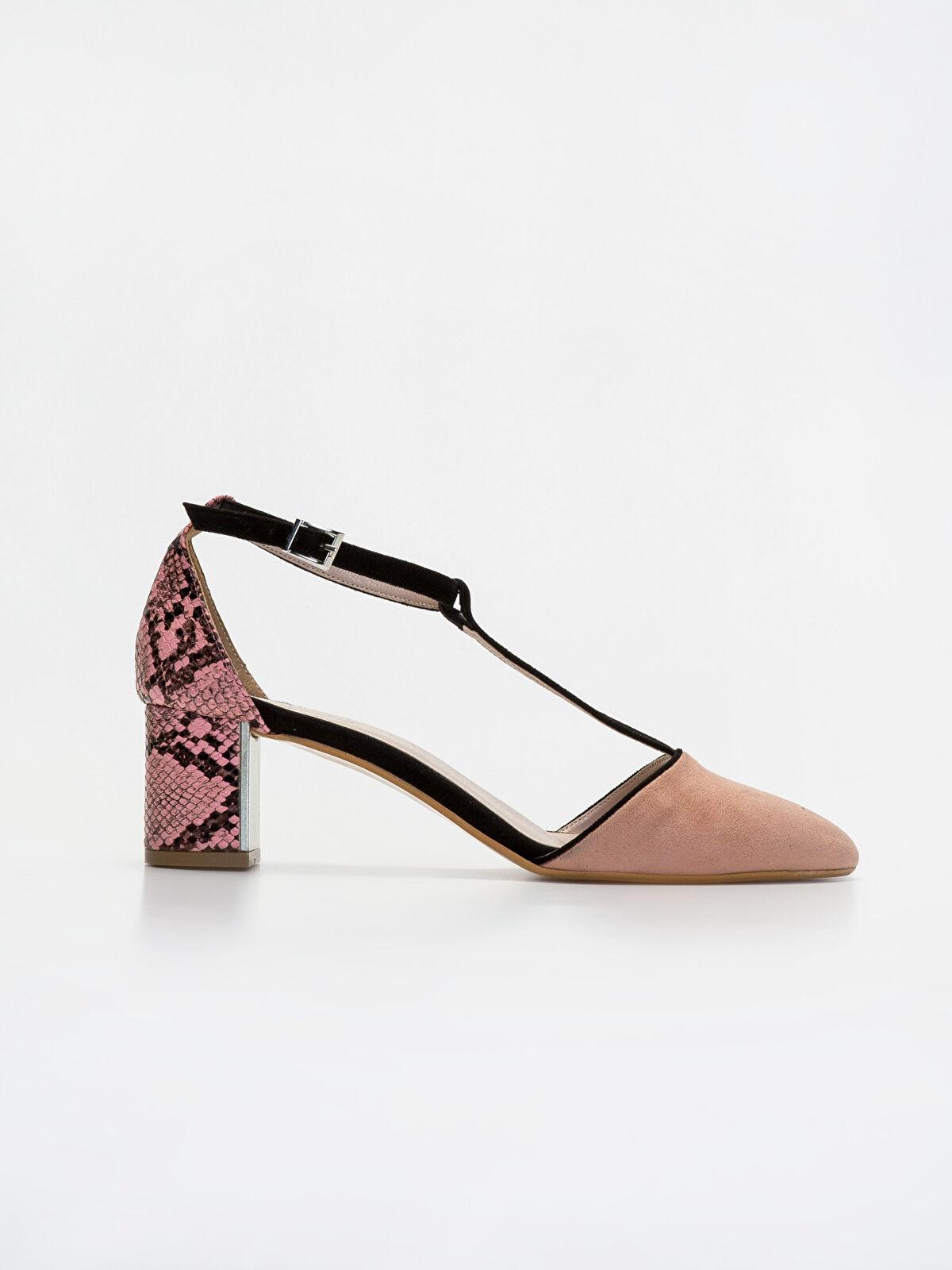 Kadın Yılan Derisi Görünümlü Stiletto Ayakkabı - LC WAIKIKI
