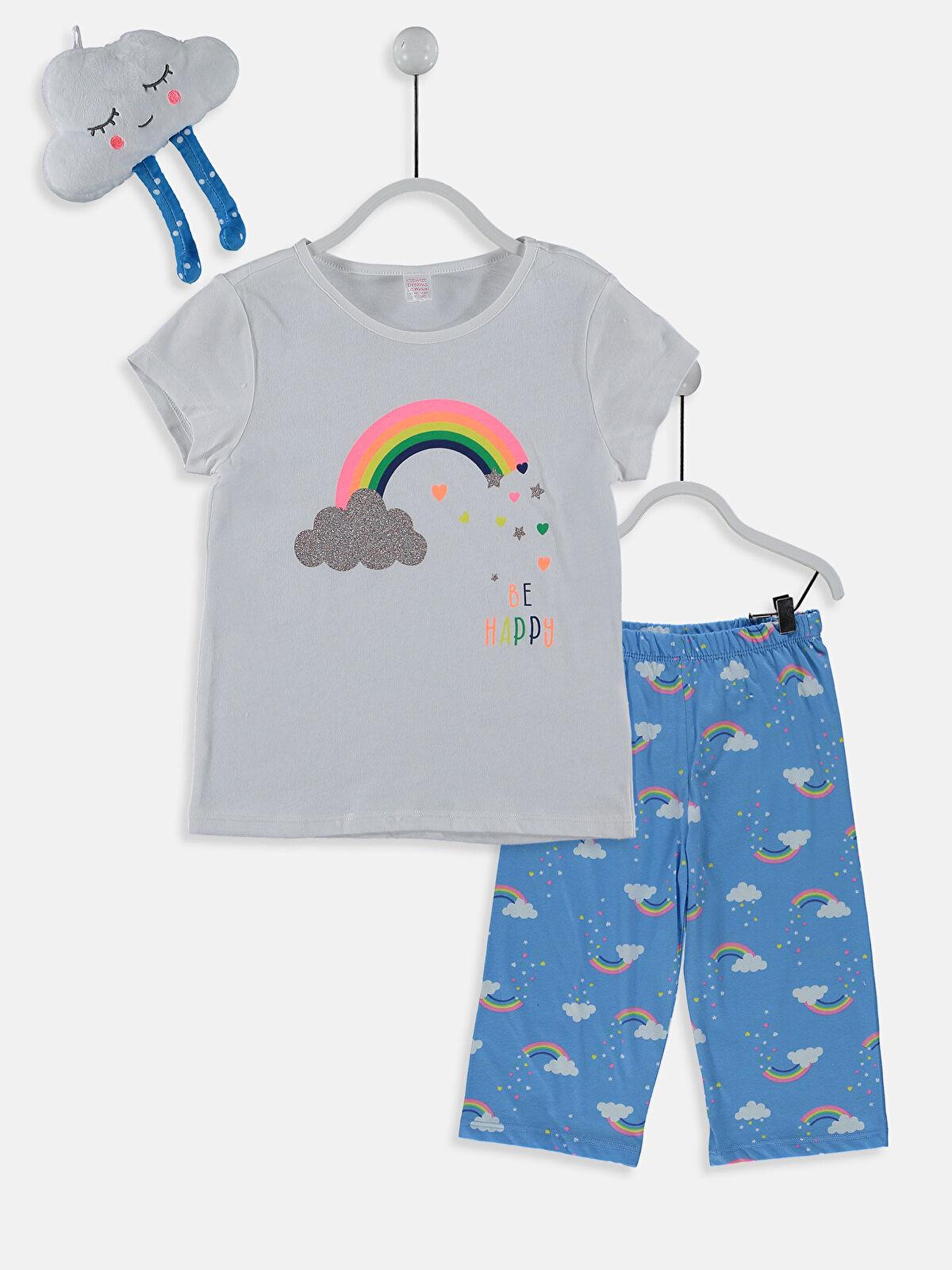Kız Çocuk Pamuklu Pijama Takımı ve Oyuncak - LC WAIKIKI