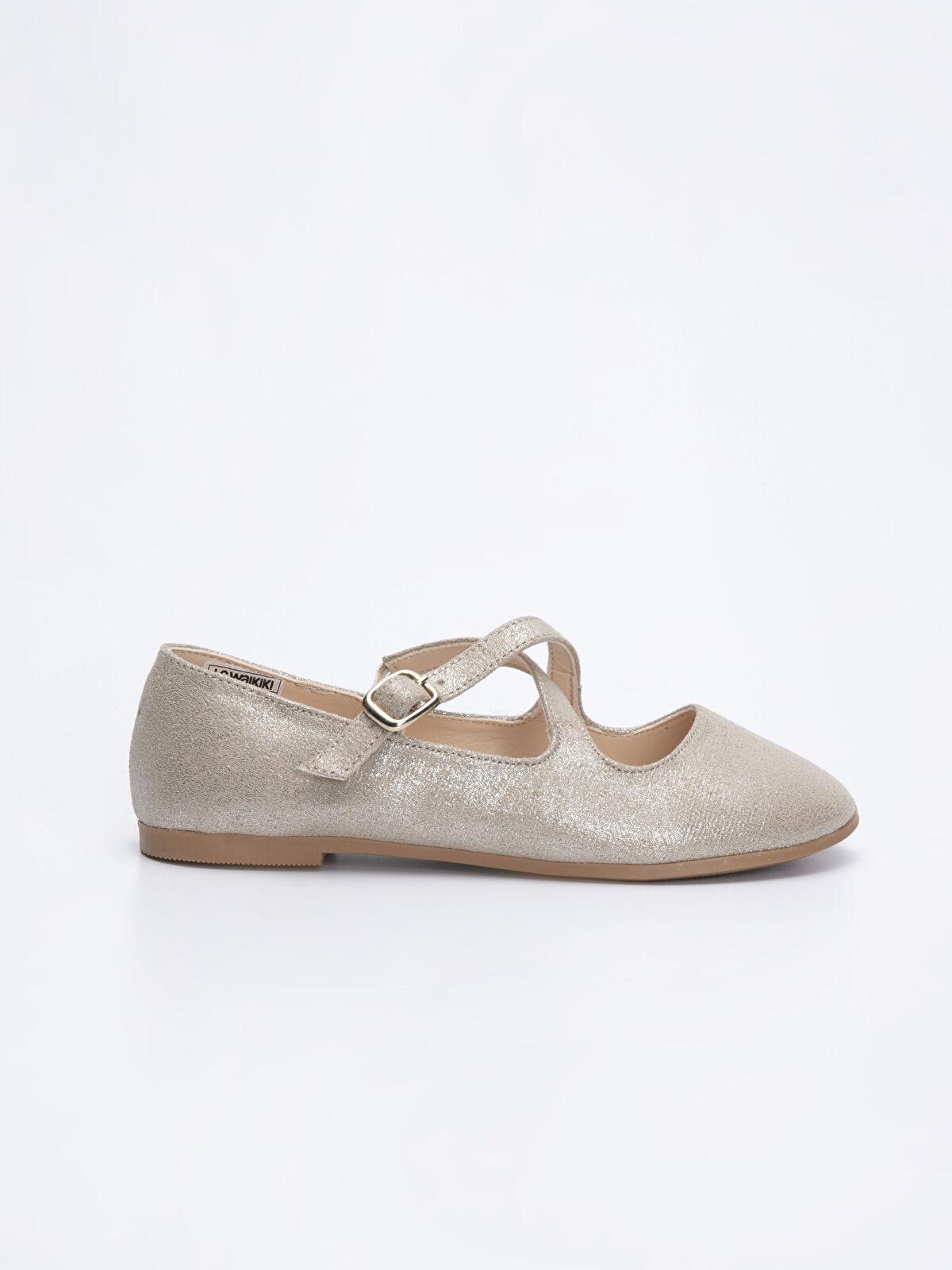 Kız Çocuk Çapraz Bantlı Babet Ayakkabı - LC WAIKIKI