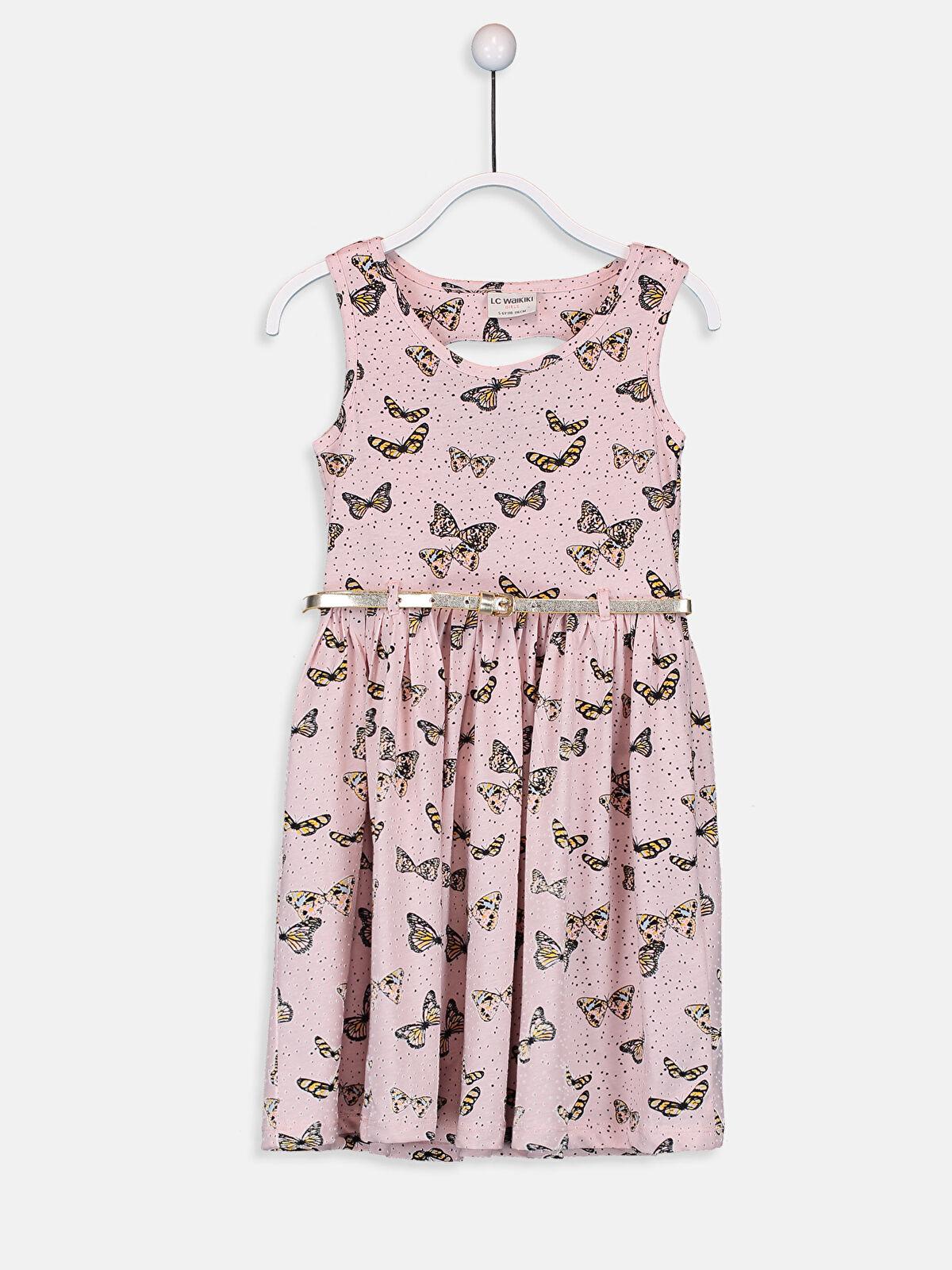 Kız Çocuk Pamuklu Elbise ve Kemer - LC WAIKIKI