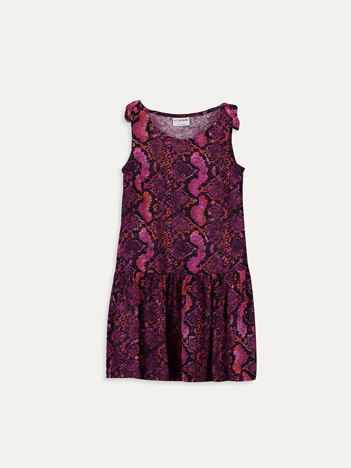 Kız Çocuk Desenli Viskon Elbise - LC WAIKIKI