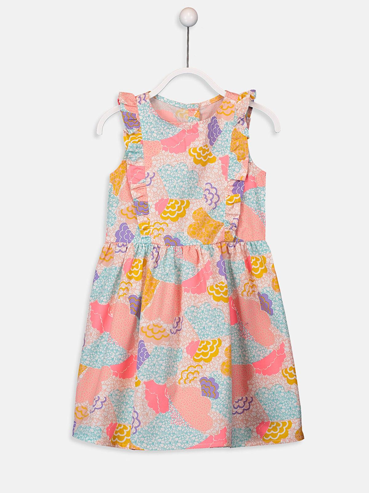 Kız Çocuk Desenli Poplin Elbise - LC WAIKIKI