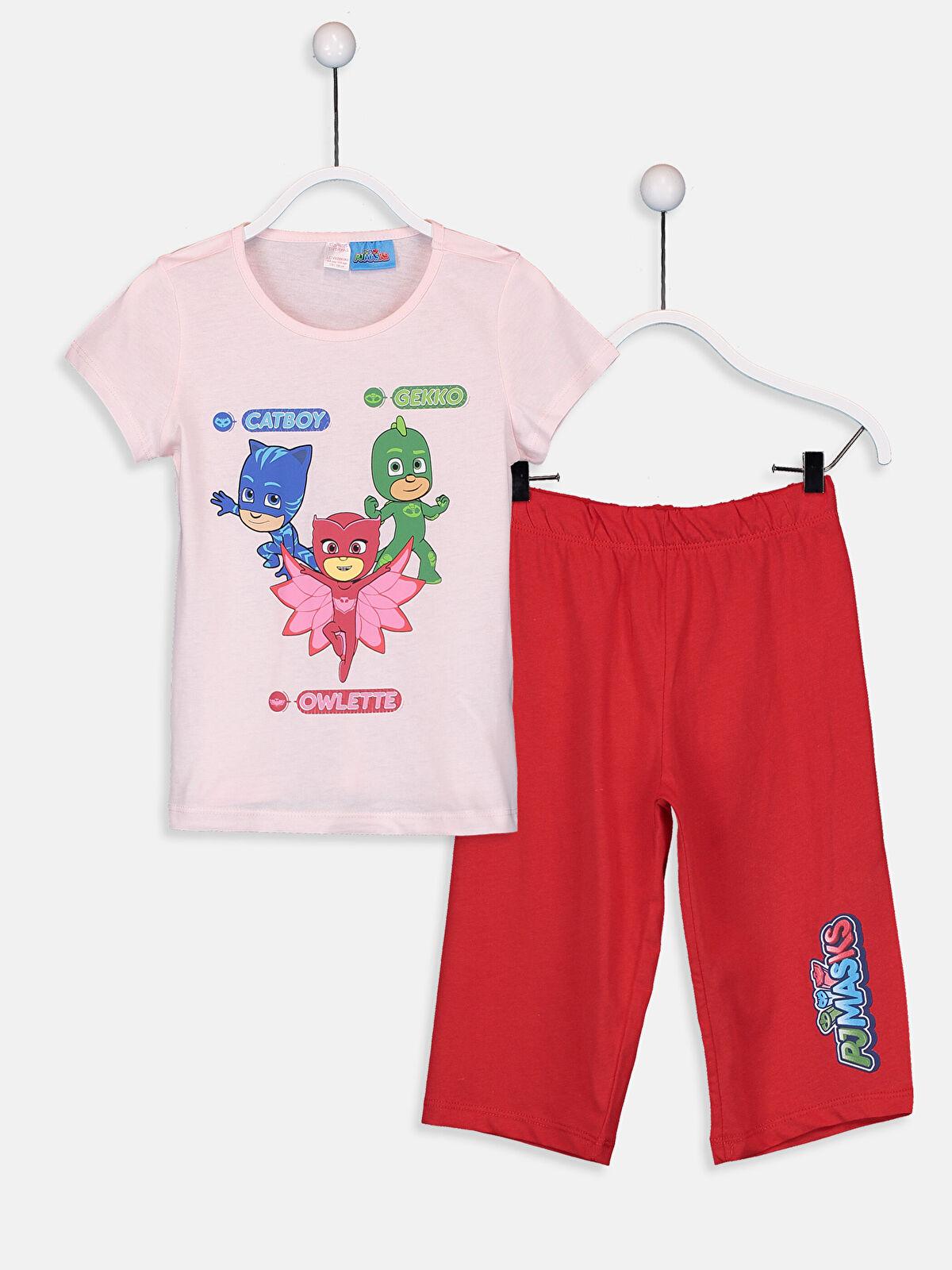 Kız Çocuk Pijamaskeliler Pamuklu Pijama Takımı - LC WAIKIKI