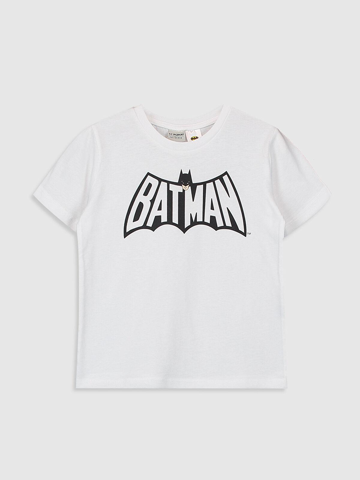 Erkek Çocuk Batman Baskılı Pamuklu Tişört - LC WAIKIKI