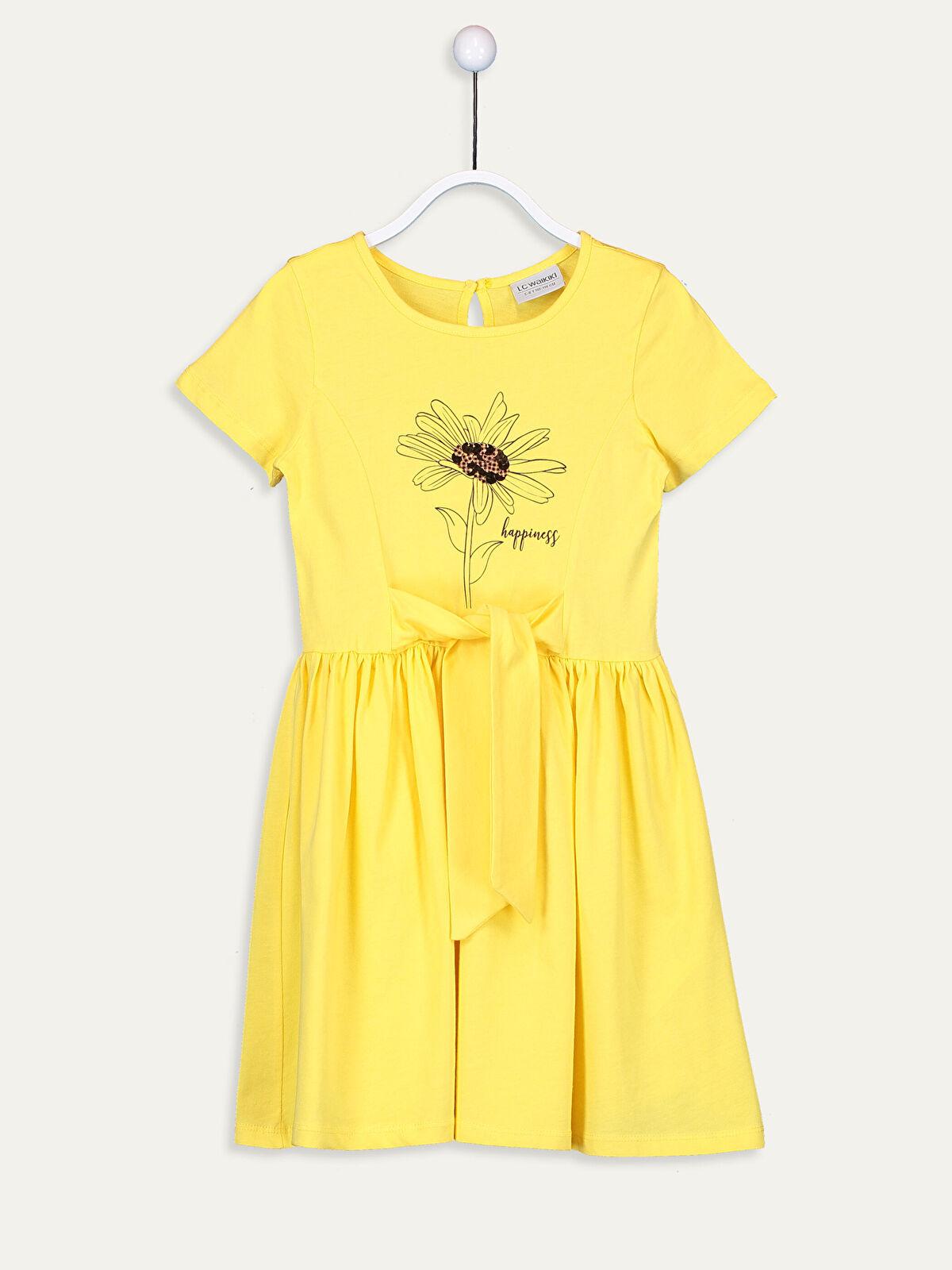 Kız Çocuk Fiyonk Detaylı Pamuklu Elbise - LC WAIKIKI