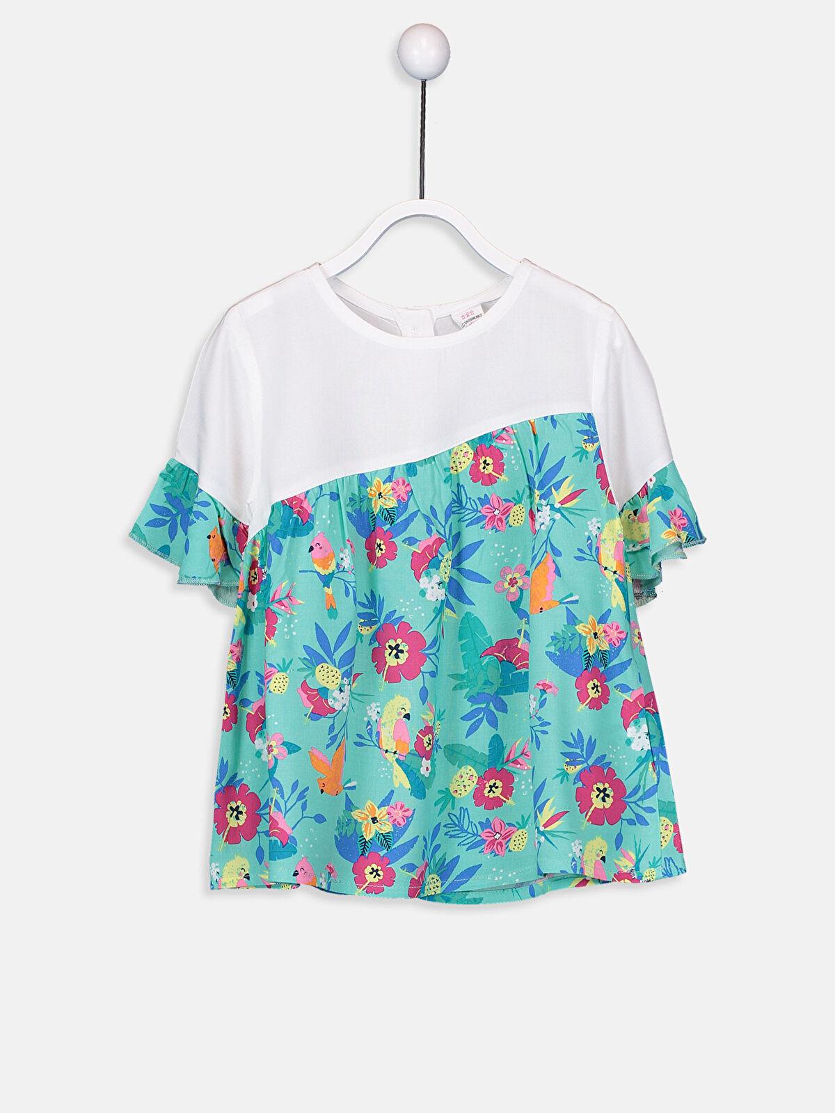 Kız Bebek Desenli Poplin Bluz - LC WAIKIKI