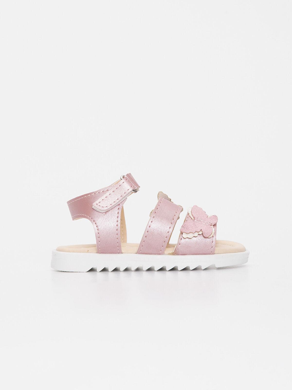Kız Bebek Parlak Görünümlü Sandalet - LC WAIKIKI